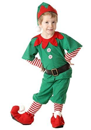 Disfraz Para Nino Traje De Duende De La Navidad Nino Feliz - Disfraces-de-nios-de-navidad