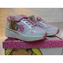 Zapatillas Barbie Con Ruedas