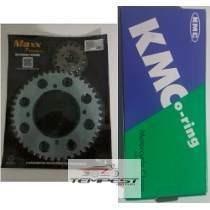 Kit Relação Yamaha Virago 250 C/ Corrente Kmc C/ Retentor