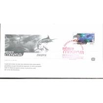 2002 Fdc Sobre Primer Día México Conserva Mares $11.50