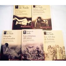 Pkt Marqués De Sade 5 Libros Sodoma Justina Julieta Tocador