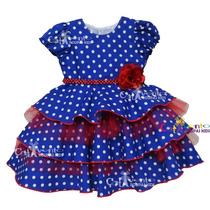Vestido De Festa Galinha Pintadinha Tam 01 Ao 05 Com Tiara