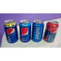 Lote 4 Latas Refresco Edic Especial, Vacias Pepsi
