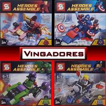 Kit Lego Heroes Assemble 4 Modelos (compatível Com Lego)