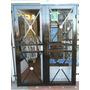 Puerta Reja Balcón Metal Desplegable 180x200 Con Marco