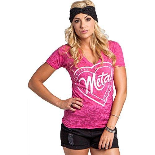 Mujer tee rosa W V Camiseta Mm X Mulisha Metal Estampado gw5H1q4wx