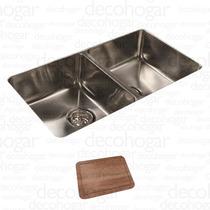 Bacha Cocina Pileta Johnson Quadra Q76 + 1 Acc Cjn0117