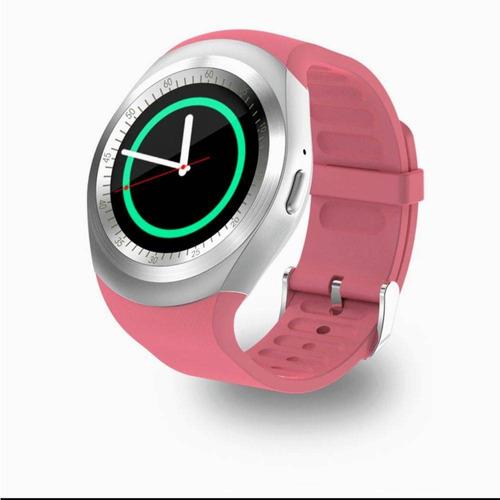 f8a0d83d889 Relógio Smartwatch Y1 Original Celular Inteligente - Rosa. - R  120 ...