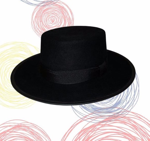 Sombrero Cordobés Fieltro Color Negro Rojo Nuv Envió Gratiis -   78.000 en  Mercado Libre 67b4790f8b2