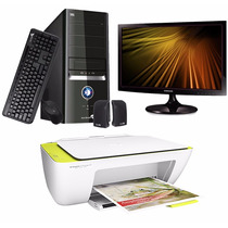 Pc De Escritorio Ken Brown 4gb 1tb W10 + Monitor + Impresora