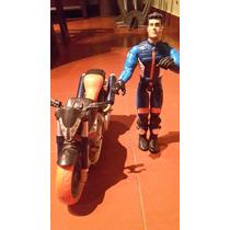 Muñeco Action Man Con Moto