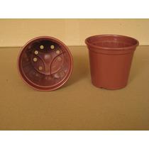 Vaso Plástico Marrom Embalagem Com 100pçs (10,5 X 9cm)