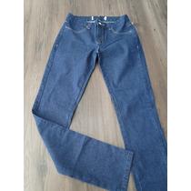 Calça Jeans Feminina Cintura Média E Botão Brilho 36 Ao 44!