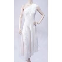 Vestido Blanco Largo Andrea De La Rocca