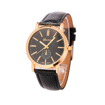 Relógio Unisex Geneve Quartz Dourado - Barato
