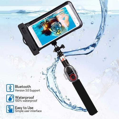 funda case sumergible waterproof selfie stick iphone samsung en me. Black Bedroom Furniture Sets. Home Design Ideas