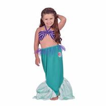 Disfraz Disney Princesas La Sirenita Con Licencia Original.