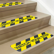 24 Huellas Antiderrapantes Escalones Watch Your Step 15x60cm