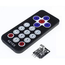 Kit Controle Remoto + Receptor Infra Vermelho Ir Arduino/pic