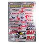Set Adhesivos Moto 45x32cm Cross Enduro Team Fox Maxxis Quad