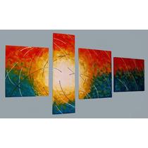 Cuadros Tripticos Modernos Abstractos Arboles - Promo!!!