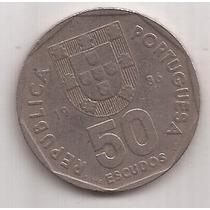Portugal Moneda De 50 Escudos Año 1986