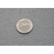 566 - 200 - Réis - 1889 - Cupro Níquel - Brasil.
