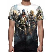 Camisa, Camiseta Assassins Creed Unity - Estampa Total