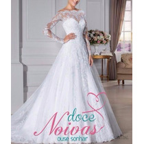 Vestido De Noiva Manga Longa Imperatriz Pronta Entrega