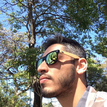 Óculos De Sol De Fibra De Bamboo/madeira