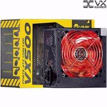 Fonte Alimentação Atx Vinik Gamer Vx500 500w C/ Led Vermelho