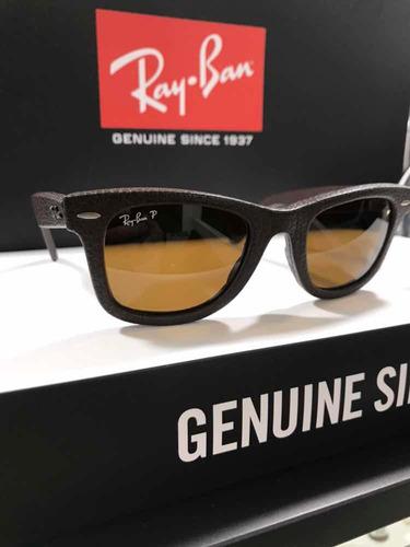Óculos Rayban Wayfarer Rb2140-q-m 1153 n6 Polarizado Couro - R  649,00 em  Mercado Livre 2cc6e214c8