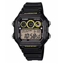 Reloj Casio Ae-1300wh Funcion Arbitro 100 Mts