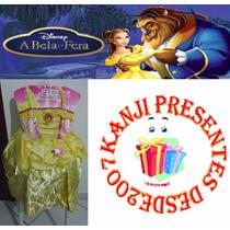 Vestido Infantil Bela E A Fera Princesas Disney Cosplay