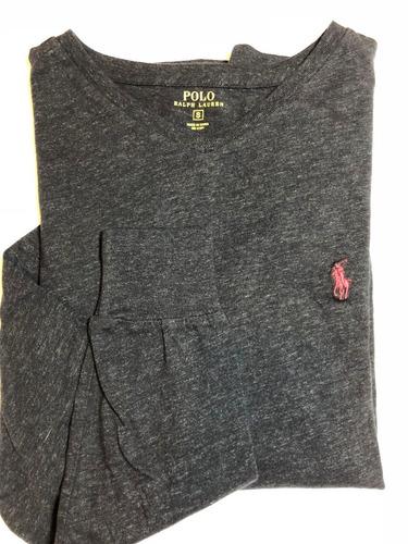 Camiseta Manga Longa Masculina Polo Ralph Louren P Original - R  169 ... 023d604af17