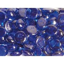 Guijarros De Cristal - 170pc 17mm Azul Nuggets Piedras Rocas