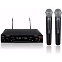 Microfone Sem Fio Duplo De Mao Uhf Kadosh Kdsw 482m