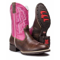 Bota Texana Feminina Country Bordada Rodeio Capelli Boots