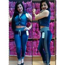 Calça Jeans Moleton Feminina Linda !