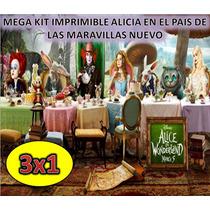 Mega Kit Imprimible Alicia En El Pais De Las Maravillas Nuev