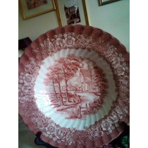 Plato Porcelana Inglés Grande Loza Colgar Deco