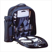 Morral All In One Placas Viajes Picnic Set Mochila Cubierto