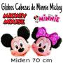 Globo Metalizado Cabeza Cara De Mickey Minnie Disney