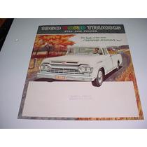 Folder Ford F100 F350 F600 Pickup Picape Caminhao 60 1960 V8