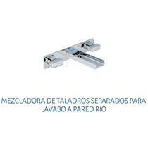 Mezcladora Taladros Separados Pared Lavabo Urrea Rio 9715ri
