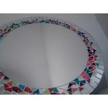 Espejo Redondo Marco Multicolor