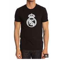 Camiseta Estampada Madrid Negra Y Blanco