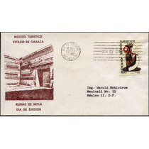 0091 México Carta Primer Día Turistico Traje T Oaxaca 1973