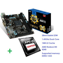Combo Amd Tarjeta Madre Msi Am1i+procesador Dualcore 1,45ghz