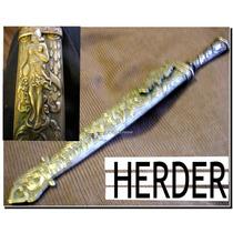 Cuchillo Y Vaina Herder 2 Llaves Plata Y Oro